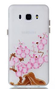 För Självlysande fodral Skal fodral Blomma Mjukt TPU för Samsung J5 (2016) J3 J3 (2016)