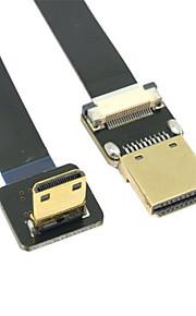 Cy® HDMI 1.4-HDMI 1.4 Plaqué or Câble 1080P 0.2m (0.65Ft)