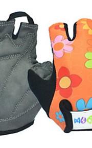 BODUN /SIDEBIKE® スポーツグローブ 子供用 サイクルグローブ 春 夏 秋 冬 サイクルグローブ 耐摩耗性 耐久性 反射材 保護 フィンガーレス ライクラ サイクルグローブ ブルー オレンジ サイクリング