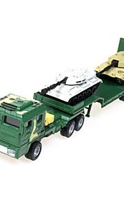 Véhicule Militaire Jouets Jouets de voiture 1:60 Métal ABS Plastique Vert Maquette & Jeu de Construction