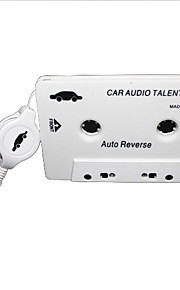 Car Audio Cassette Adapter for MP3 / MP3 / Cell Phones - White (3.5mm Plug)