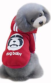 개 코트 후드 레드 옐로우 블루 블랙 그레이 로즈 강아지 의류 겨울 모든계절/가을 곰 귀여운 패션 스포츠