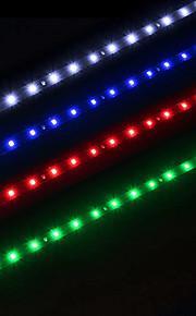 ziqiao 2pcs / lot 30cm 15 SMD hvit vanntett lights høy effekt bil auto dekor fleksible LED strips