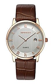 SANDA Casal Relógio Elegante Relógio de Moda Relógio de Pulso Quartzo Quartzo Japonês Calendário Impermeável Couro Banda PendentePreta