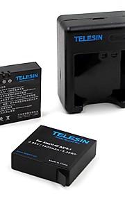 TELESIN YI-B&C-201 Charger Battery For Xiaomi Camera Universal Ski/Snowboarding Bike/Cycling SkyDiving Surfing/SUP Rock Climbing Travel