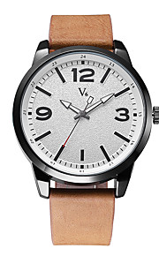 Men's Fashion Watch Quartz / PU Band Casual Black Brown Green Brand