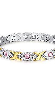 Bracelet Chain Bracelet Titanium Steel Flower Fashion Gift Valentine Jewelry Gift Silver,1pc