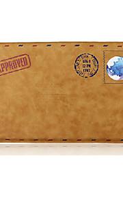 for MacBook Air pro 11,6 erme enkel fritid retro konvolutt stil bærbare bag solid farge pu laptop sleeves univers