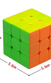 Qiyi® 부드러운 속도 큐브 3*3*3 노블티 스트레스 완화 그린 화이트 노란색 전사 조정 봄 플라스틱