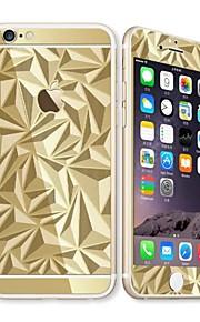 für Apple iPhone 6s / 6 4.7 Displayschutzfrontdisplayschutzfolie und Rückenprotektor Galvanik geometrisches Muster