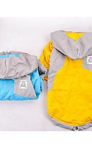 Собаки Плащи Желтый Синий Одежда для собак Зима Однотонный На каждый день Спорт