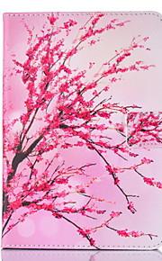Pour Porte Carte Avec Support Clapet Motif Magnétique Coque Coque Intégrale Coque Fleur Dur Cuir PU pour Apple iPad 4/3/2