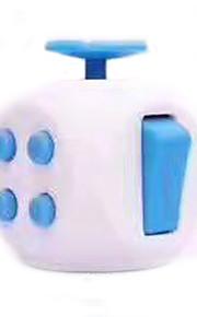 Brinquedos Cubo Macio de Velocidade Cube Fidget Novidades Alivia Estresse Cubos Mágicos Branco Azul Plástico