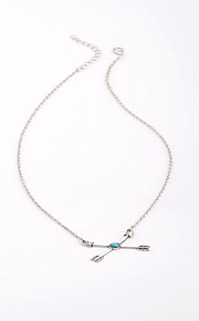 Necklace Non Stone Choker Necklaces Jewelry Daily Casual Others Love Euramerican Fashion Personalized Alloy Resin 1pc Gift Silver Sky Blue