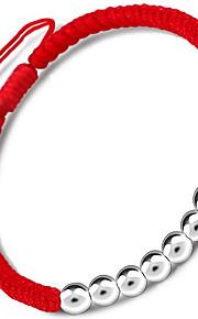 Armbånd Kæde & Lænkearmbånd Sølv Nylon Blomstformet Andre Mode Fødselsdag Julegaver Smykker Gave Sølv Rød,1 Stk.