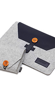 For Apple MacBook Air/Pro 11.6 12 13.3 Inch Sleeves with Charger Pack Laptop Bag Felt Simple Leisure Style Notebook Bag Solid Color