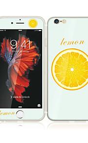 アップルのiPhoneのための6S / 6ソフトエッジフルスクリーン・カバレッジ・フロントスクリーンプロテクターとバックプロテクターレモンパターンと4.7強化ガラス