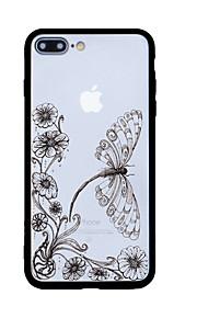 För Mönster fodral Skal fodral Fjäril Hårt Akrylfiber för Apple iPhone 7 Plus iPhone 7 iPhone 6s Plus/6 Plus iPhone 6s/6 iPhone SE/5s/5