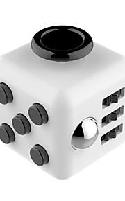 Brinquedos Cubo Macio de Velocidade Cube Fidget Novidades Alivia Estresse Cubos Mágicos Preta Branco / Plástico