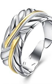 Ringe Daglig Afslappet Smykker Plastik Sølvbelagt Ring 1 Stk.,Justerbar Sølv