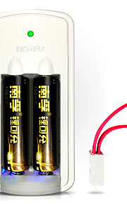 NANFU NF-LC1 AA Lithium Rechargeable Battery 1.5V 750mAh 2 Pack