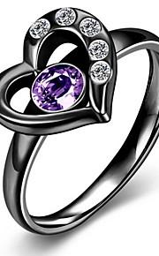 Ringe Mode Fest Daglig Smykker Zirkonium Titanium Stål Ring 1 Stk.,6 7 8 Sort Gul Guld