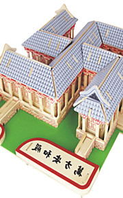 Palapelit DIY-setti Rakennuspalikat 3D palapeli Opetuslelut Palapeli Puiset palapelit Rakennuspalikoita DIY lelutNeliö Kuuluisa rakennus
