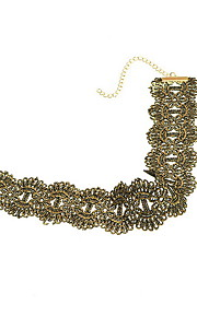 Necklace Non Stone Choker Necklaces Jewelry Daily Casual Others Euramerican Fashion Personalized Lace 1pc Gift Yellow Gold