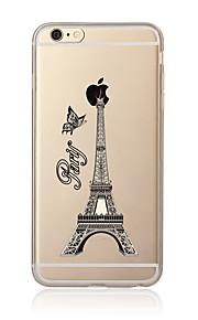 För Genomskinlig Mönster fodral Skal fodral Eiffeltornet Mjukt TPU för AppleiPhone 7 Plus iPhone 7 iPhone 6s Plus/6 Plus iPhone 6s/6