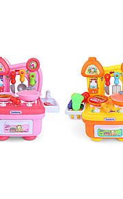 Børne kogeapparater Model- og byggelegetøj Legetøj LED-belysning Lyd Legetøj ABS Orange Hvid Til piger