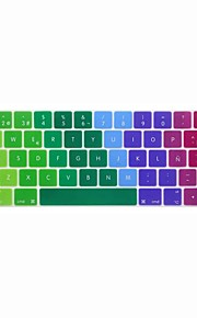 XSKN® European Spanish Colorful Silicone Keyboard Skin and Touchbar Protector for 2016 Newest MacBook Pro 13.3/15.4 with Touch Bar Retina
