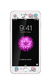 voor Apple iPhone 6 / 6s 4.7inch gehard glas transparante voorkant screen protector met reliëf cartoon patroon glow in the dark kind