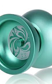 Professionel Yoyo Hobbylegetøj Cirkelformet Metal Gaver Sølv Grøn Brun