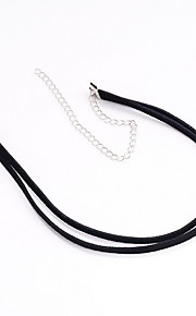 Necklace Non Stone Choker Necklaces Jewelry Daily Casual Others Euramerican Fashion Personalized Nylon 1pc Gift Black