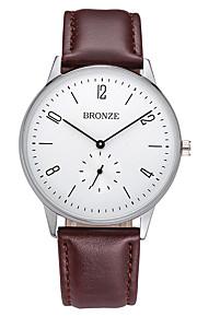 Masculino Relógio de Moda Quartzo Couro Banda Preta Marrom marca