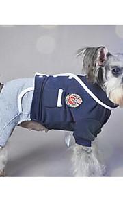Собаки Дождевик Красный Черный серый Одежда для собак Весна/осень Английский На каждый день Спорт