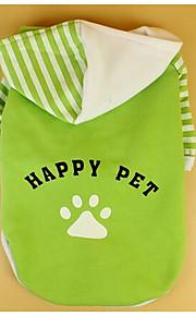 Собаки Плащи Зеленый Одежда для собак Весна/осень Однотонный На каждый день
