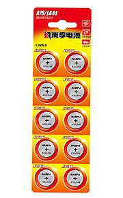 Nanfu a76 coin knoopcel alkaline batterij 1.5v 10 pack