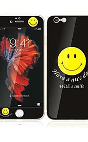 アップルのiPhoneのための6S / 6ソフトエッジフルスクリーン・カバレッジ・フロントスクリーンプロテクターとバックプロテクターの笑顔パターンと4.7強化ガラス