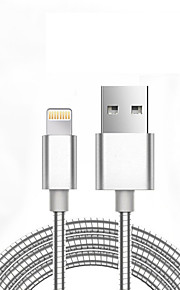 USB 2.0 Geflochten Normal Kabel Für Apple iPhone iPad 98 cm Metall Aluminium