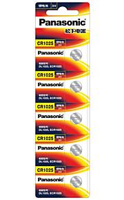 Panasonic CR1025 Button Bell Battery 3V 5 Pack