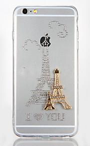 För Strass GDS (Gör det själv) fodral Skal fodral Eiffeltornet Hårt Akrylfiber för AppleiPhone 7 Plus iPhone 7 iPhone 6s Plus iPhone 6