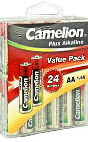 Camelion LR6-PBH24 AA Alkaline Battery 1.5V 24 Pack