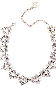 Necklace Non Stone Choker Necklaces Jewelry Daily Casual Others Euramerican Vintage Personalized Alloy 1pc Gift Silver