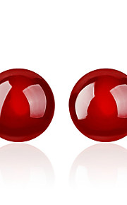/ Cirkelformet Stangøreringe Smykker Mode Fest Daglig Afslappet Krystal Plastik 1 par Sort Rød