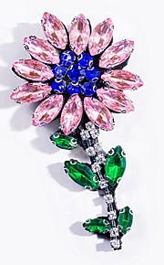 Brocher Blomstformet Legering Gul Pink Enkelt design Smykker Daglig