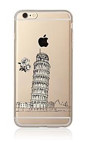 För Genomskinlig Mönster fodral Skal fodral Stadsvy Mjukt TPU för AppleiPhone 7 Plus iPhone 7 iPhone 6s Plus/6 Plus iPhone 6s/6 iPhone