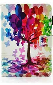 Für Kreditkartenfächer mit Halterung Flipbare Hülle Magnetisch Hülle Handyhülle für das ganze Handy Hülle Baum Hart PU - Leder für Apple
