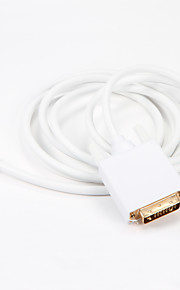 Mini DisplayPort Mini DP to DVI Cable Adapter 1.8m Gold-plated Transmits Display Port Converter Compatible for Apple MacBook
