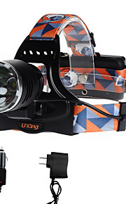 Lanternas de Cabeça LED 2000 Lumens 3 Modo Cree XM-L T6 18650.0Campismo / Escursão / Espeleologismo Uso Diário Ciclismo Caça Montanhismo